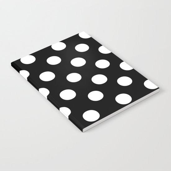 Polka Dots (White/Black) Notebook