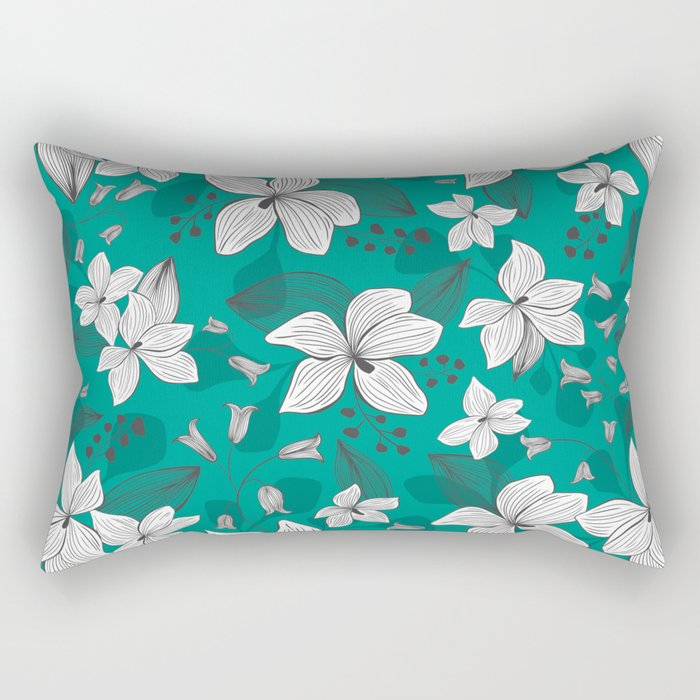 Avery Aqua Rectangular Pillow
