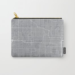 Omaha Map, Nebraska USA - Pewter Carry-All Pouch