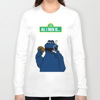 cookie monster Long Sleeve T-shirts featuring Cookie Monster by M.REYES