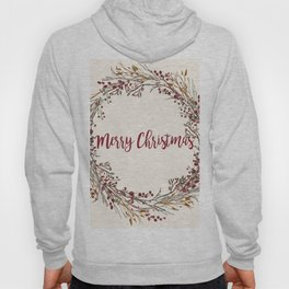 Merry Christmas Wreath Hoody