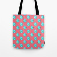 cupcake Tote Bags featuring Cupcake by tiffato3