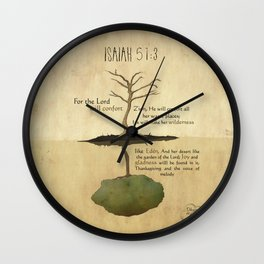 The Lord will confort Zion_Isaiah 51:3 Wall Clock