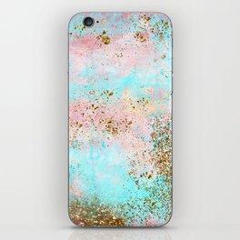 Pink and Gold Mermaid Sea Foam Glitter iPhone Skin