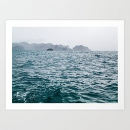 Stormy Blue Ocean Waves. Railay, Thailand Art Print