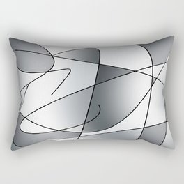 ABSTRACT CURVES #2 (Grays) Rectangular Pillow