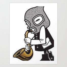 Band-itz Series: Saxophone (1 of 3) Art Print