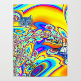 Alice in Fractal Land by Amanda Martinson Poster