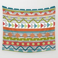 aztec Wall Tapestries featuring Aztec. by Tayler Willcox