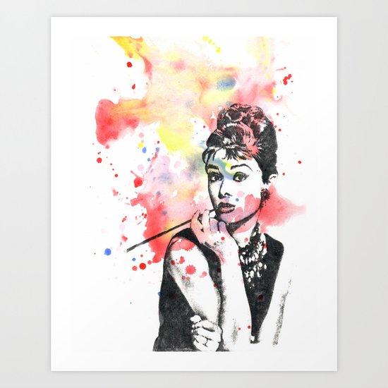 Audrey Hepburn Painting Art Print