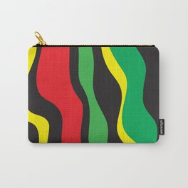 Red Yellow Green Black Rasta Wave Carry-All Pouch