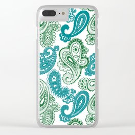 fun paisley Clear iPhone Case