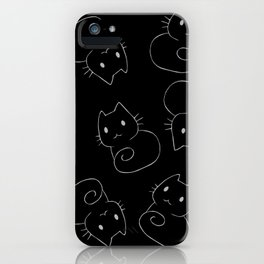 Introvert cat iPhone Case