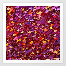 Forest Floor in Autumn Art Print
