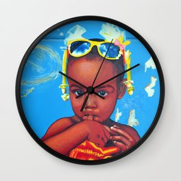 Look of innocence Wall Clock