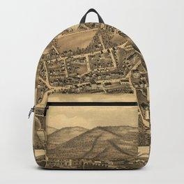 Vintage Map of Stafford Springs CT (1878) Backpack