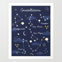 Constellation Map Art Print