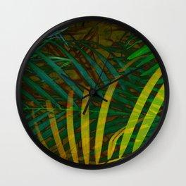 TROPICAL GREENERY LEAVES no6 Wall Clock