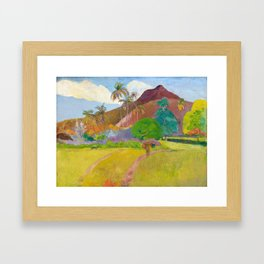 Tahitian Landscape by Paul Gauguin Framed Art Print