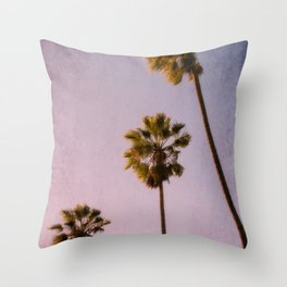 Pink Palms Throw Pillow