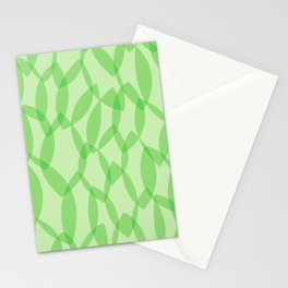 Overlapping Leaves - Light Green Stationery Cards