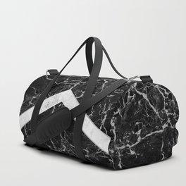 Arrows - Black Granite & White Marble #992 Duffle Bag