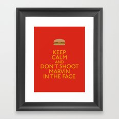 Don't shoot marvin in the face Framed Art Print