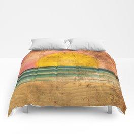 Ocean Sunset Vintage 2.0 Comforters