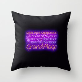 Merlinus Ambrosius Throw Pillow