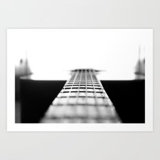 The Black Guitar Art Print