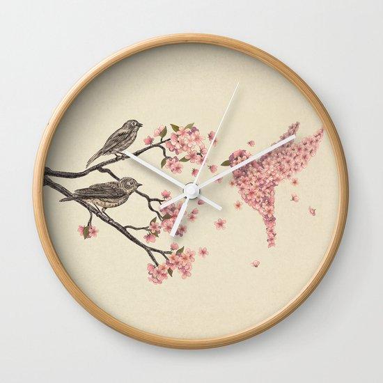 Blossom Bird  Wall Clock
