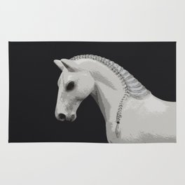 Horse with a Braided Mane Rug