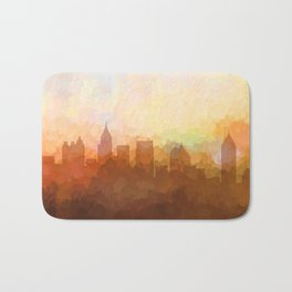 Atlanta, Georgia Skyline - In the Clouds Bath Mat