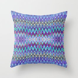 Missoni Style Blue Throw Pillow