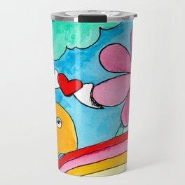Rainbow Puke Travel Mug