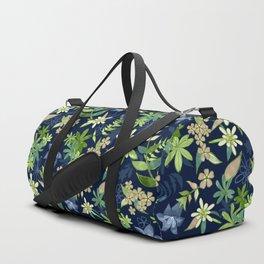 Alpine Flowers Blue - Gentian, Edelweiss Duffle Bag
