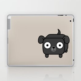 Pitbull Loaf - Black Pit Bull with Floppy Ears Laptop & iPad Skin