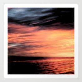 Sunset . Abstraction . Art Print