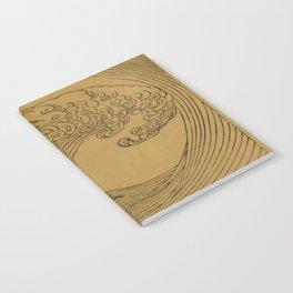 Golden Wave Notebook