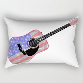 Stars and Stripes Guitar Rectangular Pillow