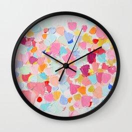 Amoebic Confetti Wall Clock