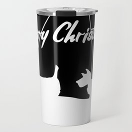 Westie White Christmas Travel Mug