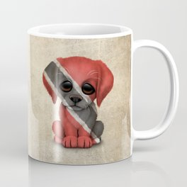Cute Puppy Dog with flag of Trinidad and Tobago Coffee Mug