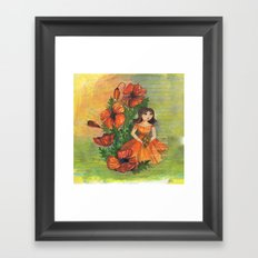 Pretty flowers in a row Framed Art Print