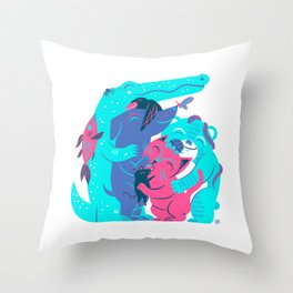 Cuddle (Bubble Gum) Throw Pillow