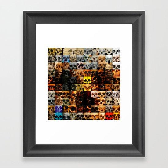 100 Painted Skulls Framed Art Print