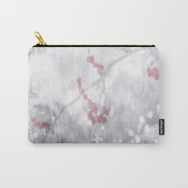 Winter Scene Rowan Berries With Snow And Bokeh #decor #buyart #society6 Carry-All Pouch