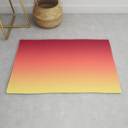 Red Orange Coral Yellow Gradient Ombre Pattern Rug