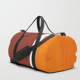 Burnt Sienna Yellow Ochre Rothko Minimalist Mid Century Abstract Color Field Squares Duffle Bag