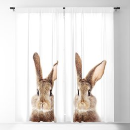 Baby Rabbit, Brown Bunny, Baby Animals Art Print By Synplus Blackout Curtain